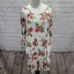 New Recruit floral and polka dot maternity